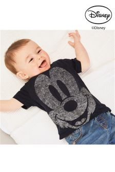 Black Mickey Mouse™ T-Shirt (0mths-2yrs)