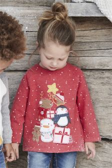 Red Christmas Character T-Shirt (3mths-6yrs)