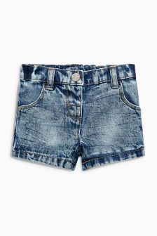 Denim Snow Wash Shorts (3mths-6yrs)