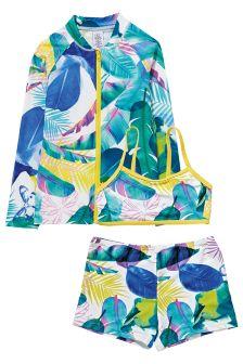 Floral Three Piece Sunsafe Suit (3-16yrs)