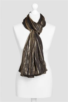 Black/Gold Stripe Scarf