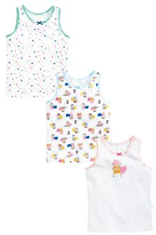 Pink/Blue Supergirl Vests Three Pack (1.5-12yrs)