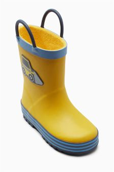 Rubber Handle Wellies (Younger Boys)