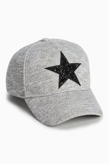 Grey Marl Star Cap (Older Girls)
