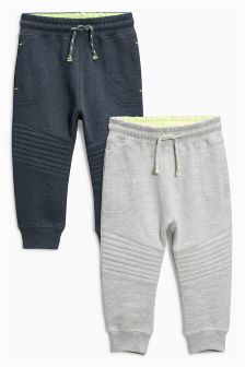 Charcoal/Grey Quilted Joggers Two Pack (3mths-6yrs)