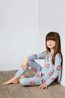 Blue 'Donut' Print All In One (3-16yrs)