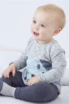 Grey Dog Jersey Jumper (0mths-2yrs)