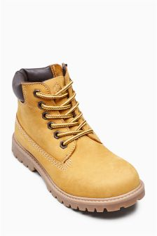 Honey Leather Boots (Older Boys)