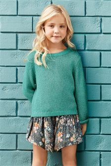 Teal Metallic Sweater (3-16yrs)