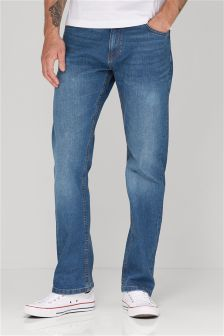 Bright Blue Jeans With Stretch