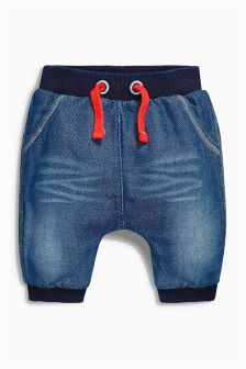 Blue Jersey Denim Relaxed Joggers (0mths-2yrs)