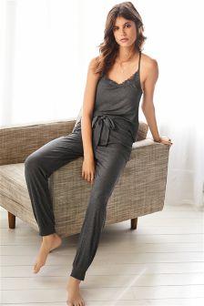 Grey Rib Pyjamas