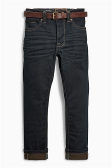 Black Skinny Belted Jeans (3-16yrs)