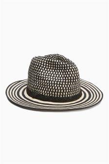 Monochrome Fedora Hat