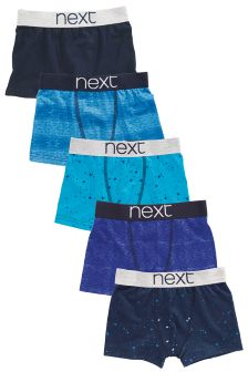 Blue Splat Trunks Five Pack (2-16yrs)