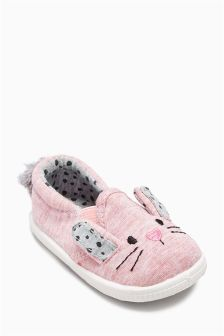 Pink Bunny Pram Shoes (Younger Girls)