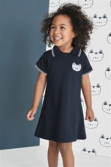 Navy Polo Dress (3mths-6yrs)