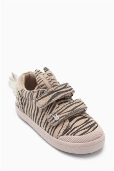 Animal Print Bunny Ears Low Top (Younger Girls)
