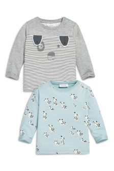 Multi Dog T-Shirts Two Pack (0mths-2yrs)