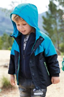 Turquoise 3 In 1 Colourblock Jacket (3mths-6yrs)