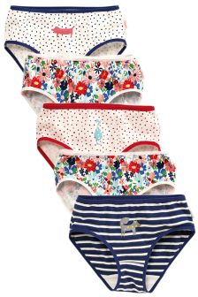 Multi Printed Briefs Five Pack (1.5-12yrs)