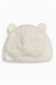 Ecru Furry Hat (0-12mths)