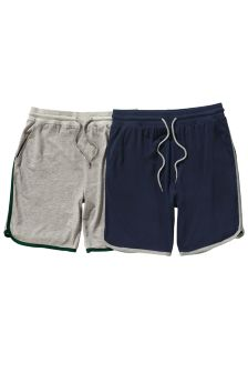 Navy/Grey Retro Shorts Two Pack