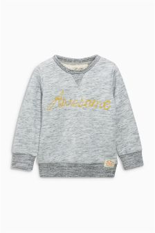 Grey Awesome Snuggly Crew Top (3mths-6yrs)