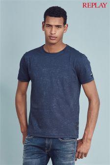 Navy Replay® Marl T-Shirt