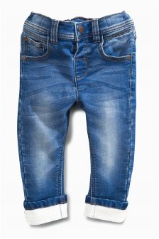 Mid Wash Jersey Denim Jeans (3mths-6yrs)