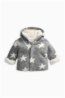 Grey/White Star Jacket (0mths-2yrs)