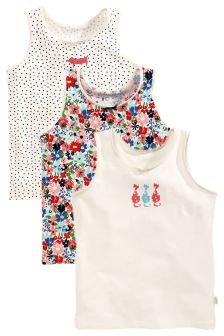 Multi Printed Vests Three Pack (1.5-12yrs)