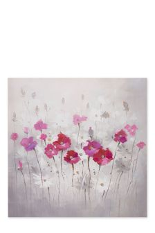 Large Beaded Floral Canvas