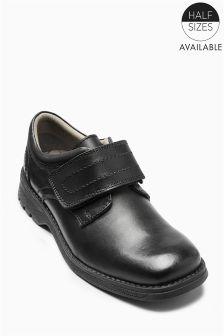Black Single Strap Shoes (Older Boys)