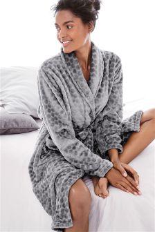 Grey Honeycomb Robe