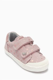 Metallic Star Low Top (Younger Girls)
