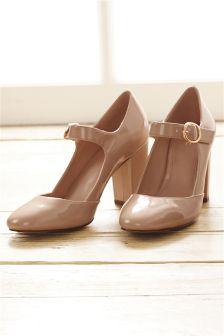Block Heel Mary Janes