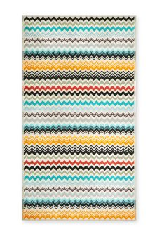 Multicolour Zig Zag Beach Towel