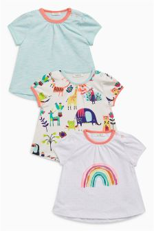 Multi Rainbow T-Shirts Three Pack (0mths-2yrs)