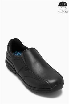 Black Leather Loafers (Older Boys)