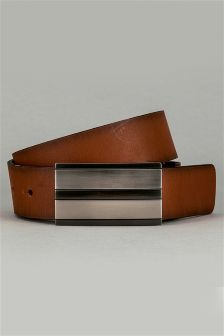Black/Tan Reversible Leather Belt
