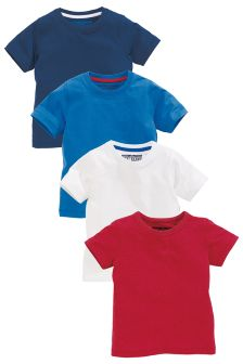 Four Pack Plain T-Shirts (3mths-6yrs)