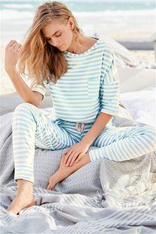 Blue Stripe Pyjama Set