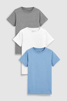 Blue Short Sleeve T-Shirts Three Pack (3-16yrs)