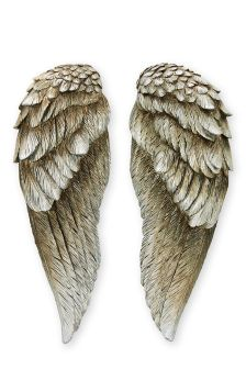 Set Of 2 Angel Wing Plaques