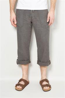 Roll Leg Linen Trousers