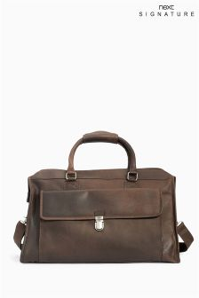 Brown Signature Holdall