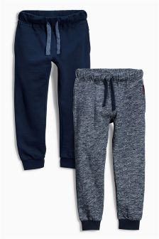 Two Pack Navy And Blue Texture Joggers (3-16yrs)