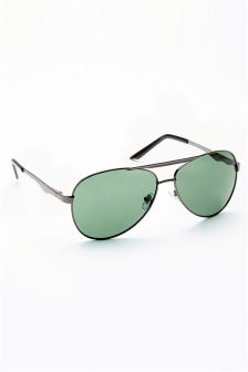 Gun Metal Aviator Style Sunglasses