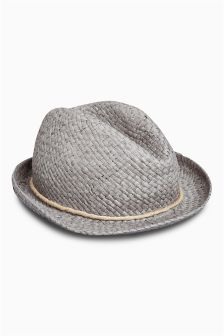 Grey Trilby Hat (Older Boys)